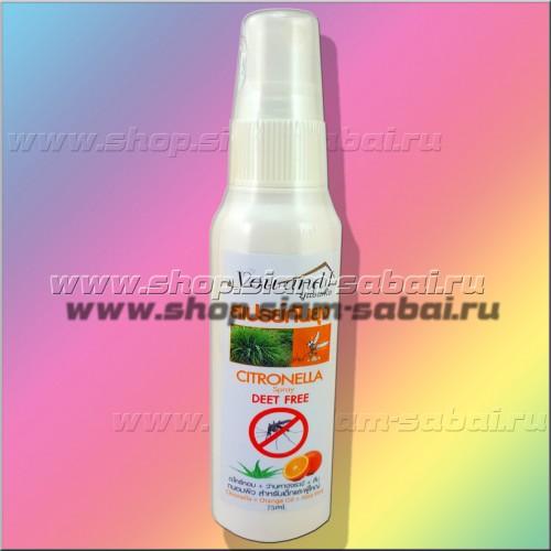 Спрей от комаров с лемонграссом 75 мл. Вес: 100.00  г