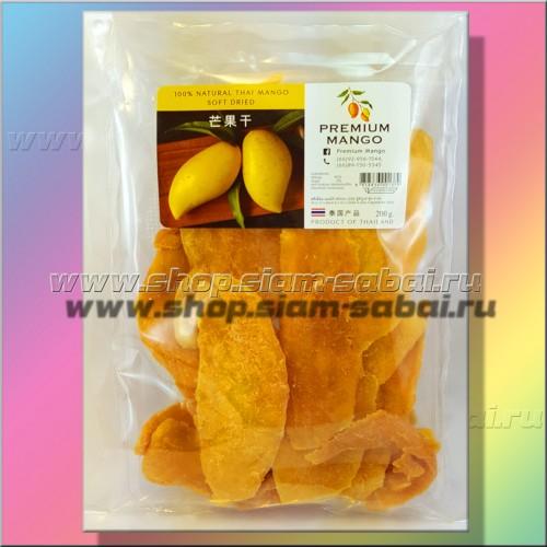 Манго тайский сушеный Премиум 200 грамм. Вес: 220.00  г