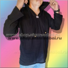 Мужская рубашка с капюшоном с длинным рукавом из Тайланда