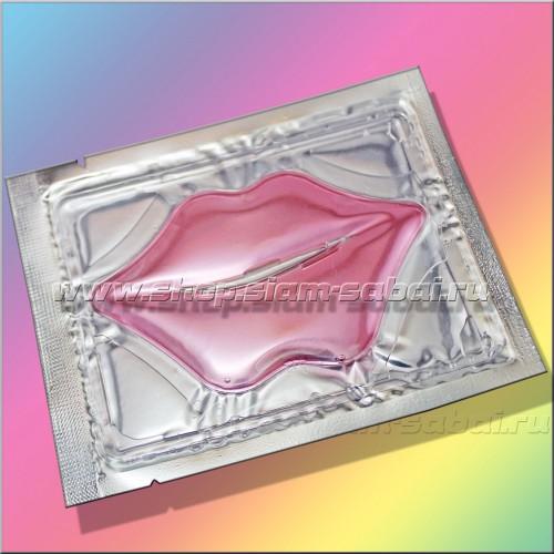 Коллагеновая маска для губ с гиалуроновой кислотой, экстрактом красного вина и коллагеном. Вес: 20.00  г