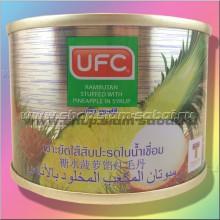 Рамбутан с ананасом в сиропе  консервированные. Вес: 250.00  г