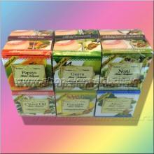 12 тайских фруктовых и травяных круглых органических зубных паст