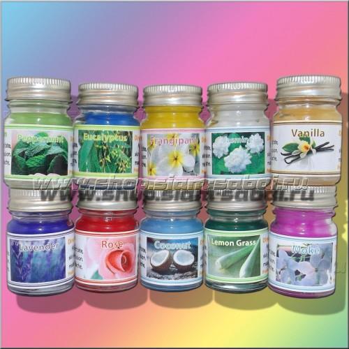 Тайские бальзамы, мини-набор из 10 разных ароматов. Вес: 400.00  г