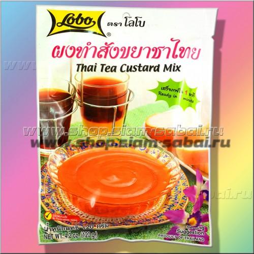 Тайский заварной крем с кокосовым чаем для бисквитов, пирожных или тортов Lobo. Вес: 140.00  г