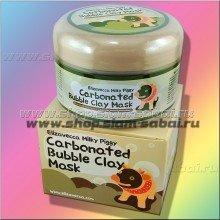 Пузырьковая глиняная маска для очищения лица Elizavecca Bubble Clay