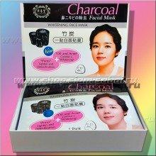 Угольная тканевая маска для лица Charcoal для сужения пор и уменьшения жирности кожи