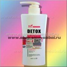 Угольный Детокс шампунь с кератином и аргановым маслом Bio-Woman 500 мл