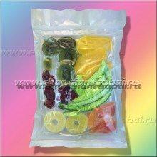 Фруктовая смесь сушеных ломтиков тайских фруктов