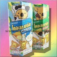 Тайское печенье  Lotte Koala's с шоколадной или сливочной начинкой