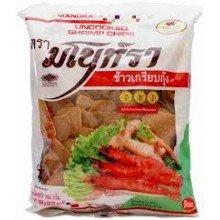 «Сырые» креветочные чипсы - вкусный полуфабрикат из Тайланда. Вес: 300.00  г