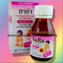 Детский клубничный сироп SaRa с парацетамолом 60 мл