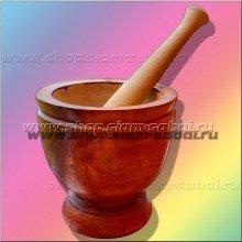 Ступка и пестик для приготовления тайского салата Сом Там и различных соусов. Вес: 3.20   кг