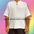 Мужская рубашка - марлевка с коротким рукавом из Тайланда