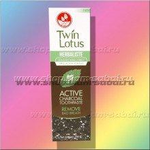 Зубная паста с бамбуковым углем Twin Lotus 150 грамм