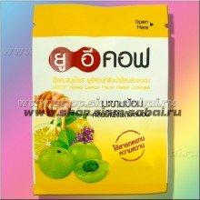 Тайские аюрведические таблетки от кашля UECOF с медом и эмбликой