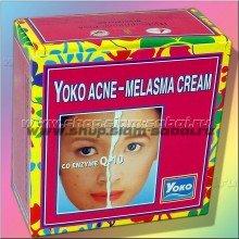 Отбеливающий эффективный крем против мелазмы и акне Yoko